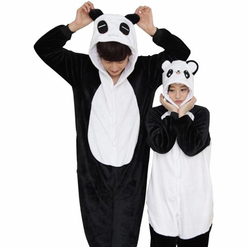 Panda yahouhei Unicorn Pajamas sets Flannel Women Animal Pajamas Adult Men Whole Full Sleepwear Winter Pajamas Unicorn