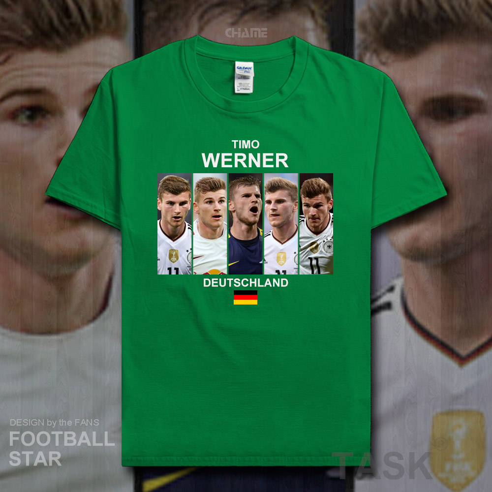 hot sale online c819e 8874b US $5.99 |Timo Werner t shirt men 2018 jersey Germany footballer star 100%  cotton fitness t shirt streetwear clothes casual summer tees 20-in T-Shirts  ...