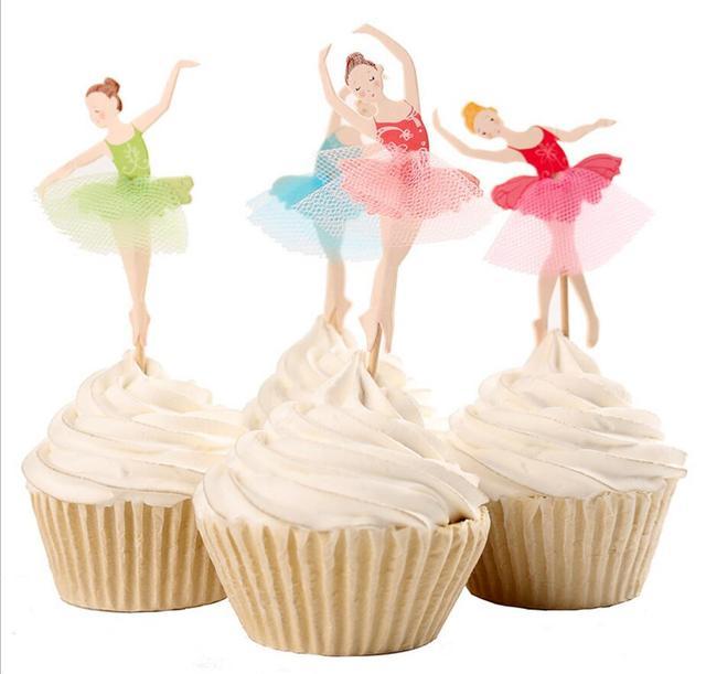 8 Unids Lote Nueva Llegada Hermosa Bailarina De Ballet Torta Elegir