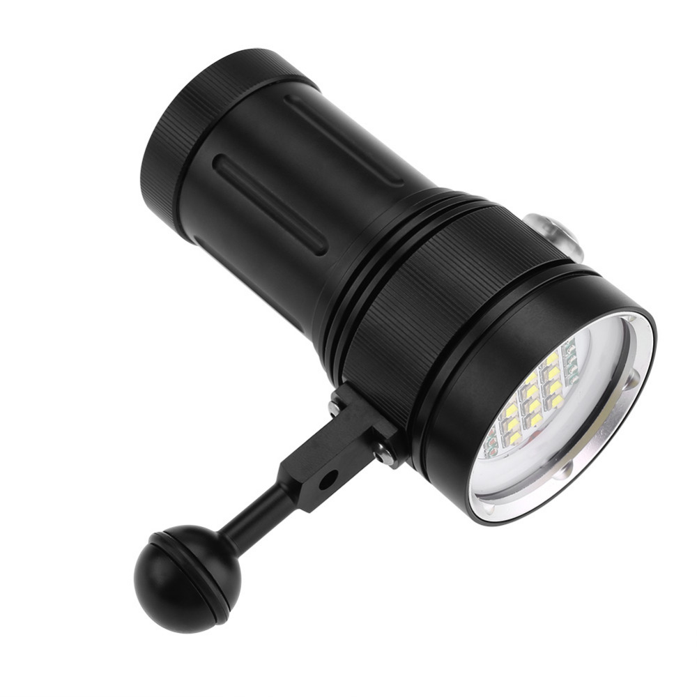 15 x L2 Bright LED Diving Flashlight Aluminum Alloy Underwater Video Photography Torch super bright 15 x l2 bright led diving flashlight aluminum alloy underwater led flashlight torch linterna video photography portable light