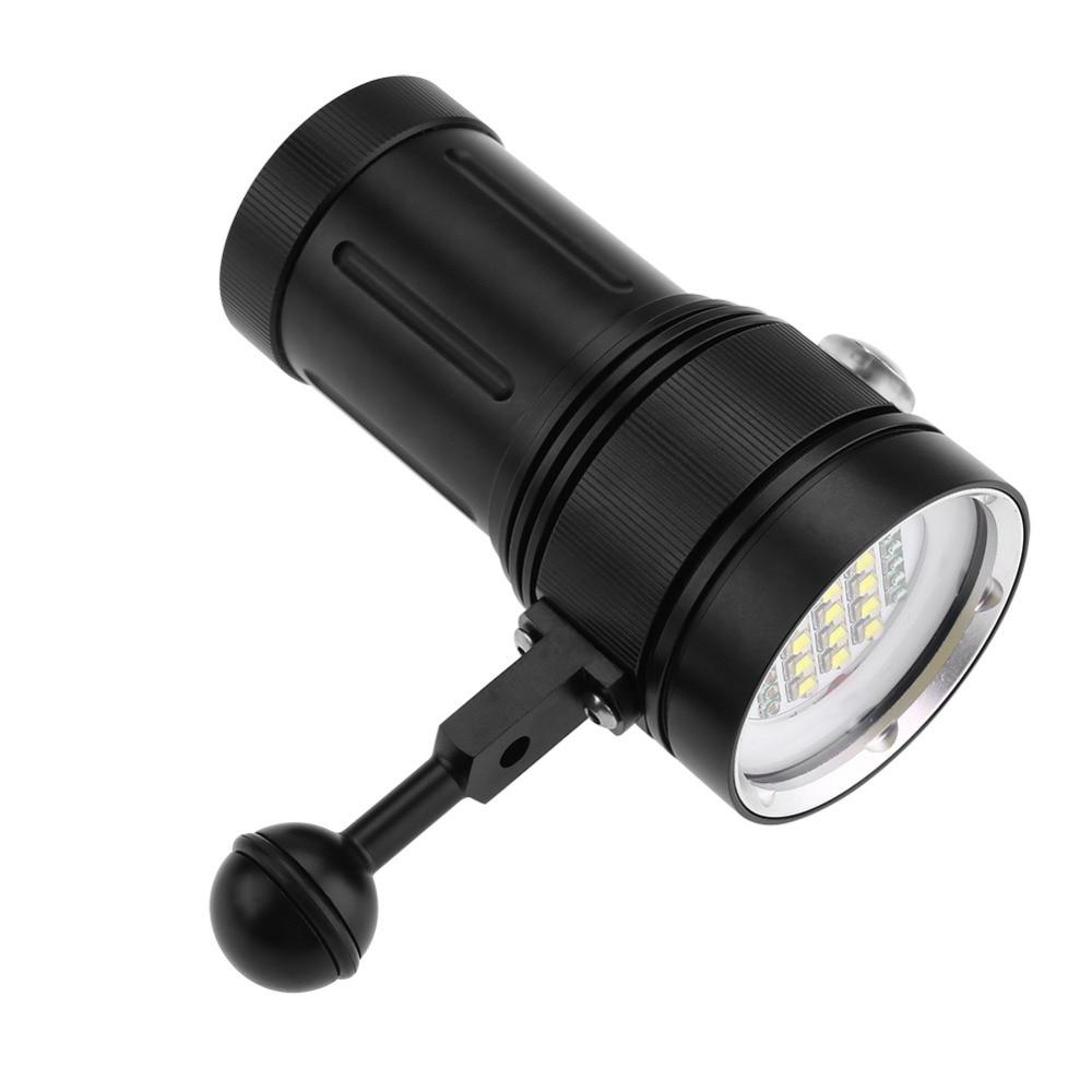 15 x L2 Bright LED Diving Flashlight Aluminum Alloy Underwater Video Photography Torch super bright portable ultra bright waterproof aluminum alloy mini led flashlight