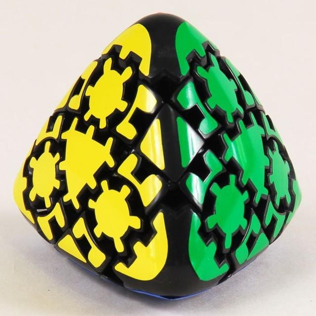 Lanlan Gear Mastermorphix Cubo mágico Puzzle negro aprendizaje y juguetes educativos Cubo juguetes