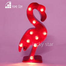 12inch hotpink metal flamingo light LED Marquee Sign LIGHT UP night light child's room Deration