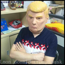 Free Shipping Adults Size Funny Donald Trump Mask Billionaire Presidential Halloween Human Face Mask Costume Cosplay Man Gift