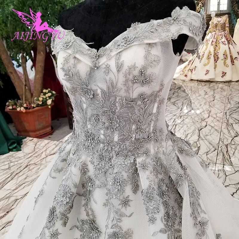 AIJINGYU Irlandese Abiti Da Sposa Medievale Abiti Bridals A Buon Mercato Uk Plus Size Diserbo 2018 Rosa Vestito Sexy Abito Da Sposa - 3