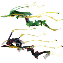 Japan Anime XY Rayquaza Green And Black Plush Toys Dolls 80cm Animals Soft Stuffed Doll Christmas Gifts For Kids