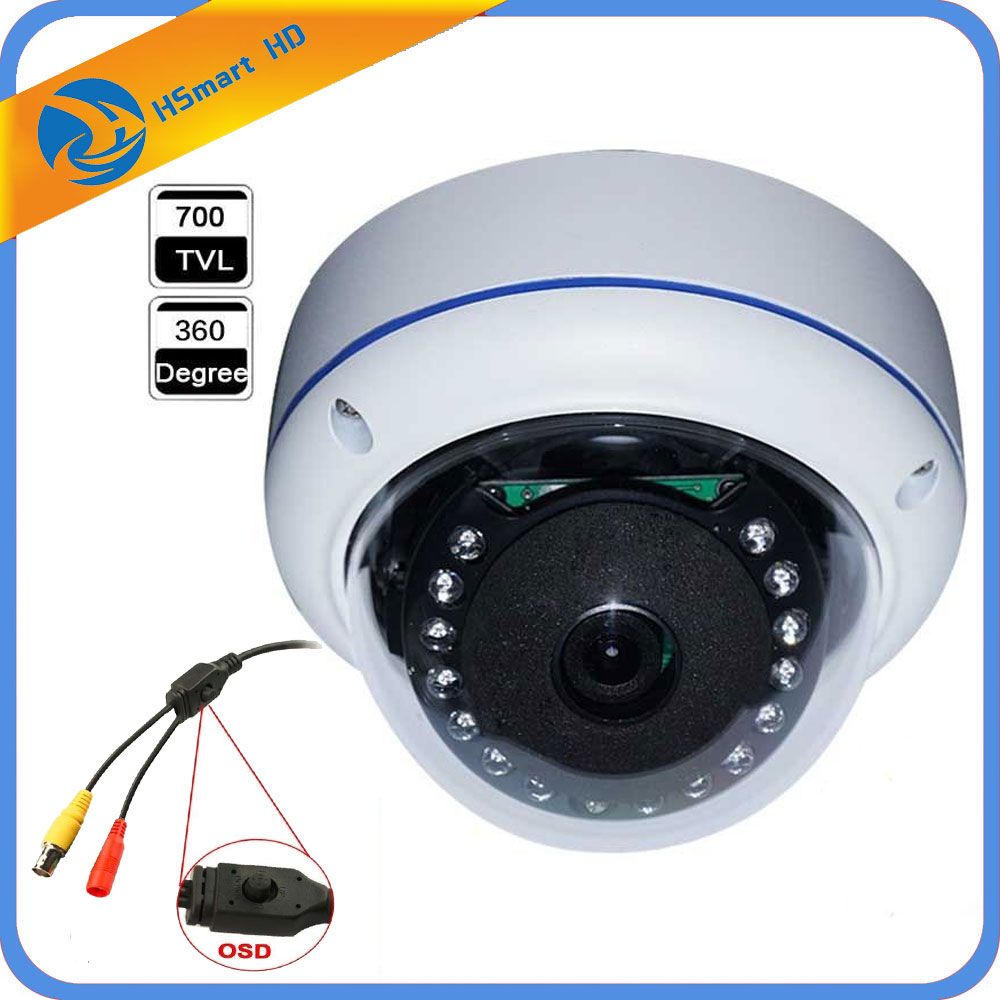 360 Degree Fisheye Wide Angle 700TVL 1/3 SONY CCD OSD Meun SONY Effio-E 4140+673/672 IR Dome 180 degrees HD CCTV Camera