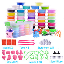 36 Colors No Baked Fimo Polymer Clay Modeling Clay Floam Slime Fluffy Slime Toys Fluffy Slime Box Light Plasticine for Children(China)