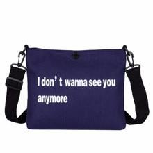 Women Canvas Bag Korean Version Of The Versatile Simple Shoulder Student Fashion Casual Messenger Handbags