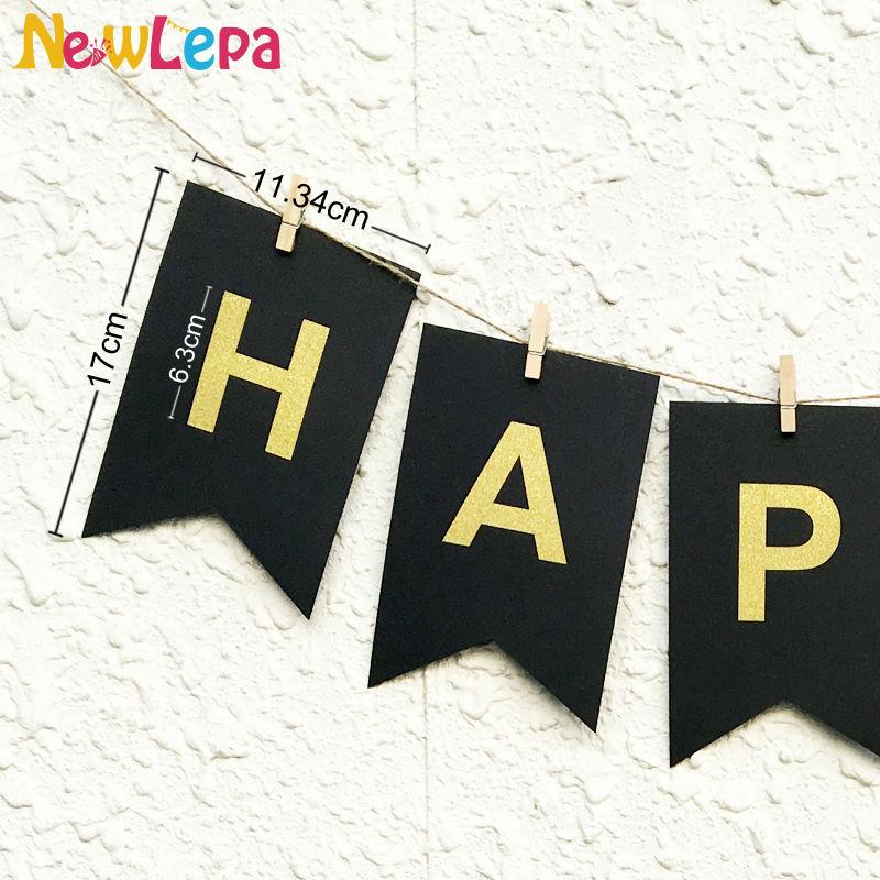 DIY Feliz Año Nuevo Garland Photo Booth Banner String Flag - Para fiestas y celebraciones - foto 2