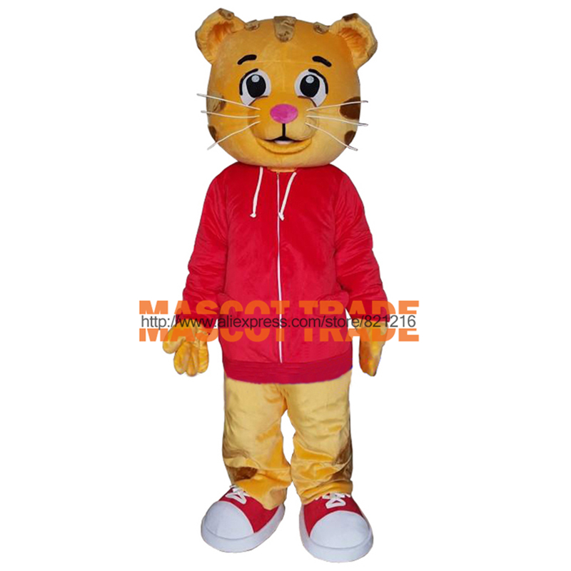 Cakes Daniel Tiger Mascot Costume Daniel Tiger Fur Mascot Costumes for Halloween party event