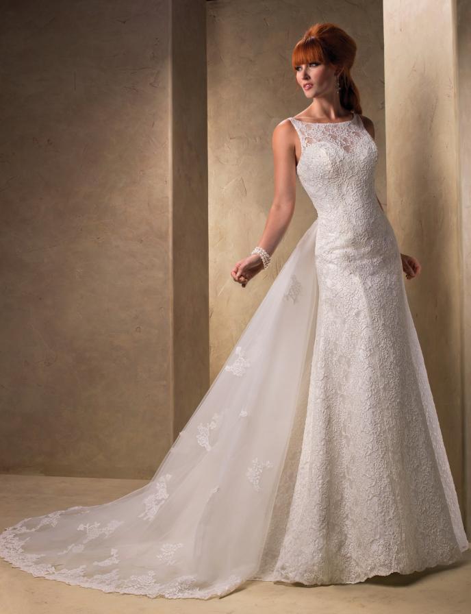 Aliexpress Buy Hot Sexy Appliques A Line Long Lace Wedding Dress Detachable Train 2016 New