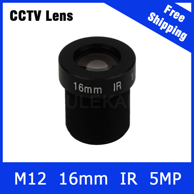 16mm cctv lens 5Megapixel Fixed M12 1/2 inch For 1080P/5MP IP camera and AHD/CVI/TVI Camera Free Shipping 3megapixel fixed m12 cctv lens 1 2 5 inch 3 6mm for ov2710 ar0230 720p 1080p ip camera or ahd cvi tvi cctv camera free shipping