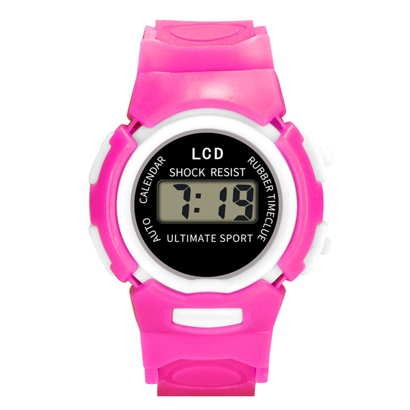 Kids Watch Children Girls Analog Digital Sport LED Electronic Waterproof Smart Wrist Watch New Fashion Digital Wrist #4m15