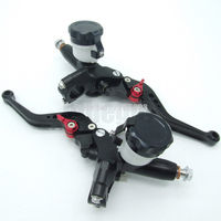 CNC Universal Motorcycle Hydraulic Master Brake Cylinder Clutch Lever 22mm 7/8'' Handlebar Chopper Touring Atv Scooter Offroad