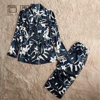 Women S Winter Sleepwear Europe Style Satin Pajamas For Women Autumn Spring Pajama Set High Quality