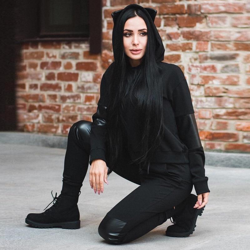 Street wear friends sweat à capuche femme love you halloween noir vestes à capuche patchwork pull sweatshirts femmes
