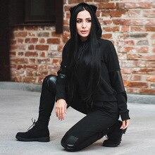 street wear friends hoodie sweatshirt femme love yourself halloween black patchwork hoodies pullover sweatshirts womens