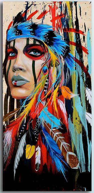 Buy NEW 5D DIY Diamond Painting Native American Girl Diy Cross Stitch 3D