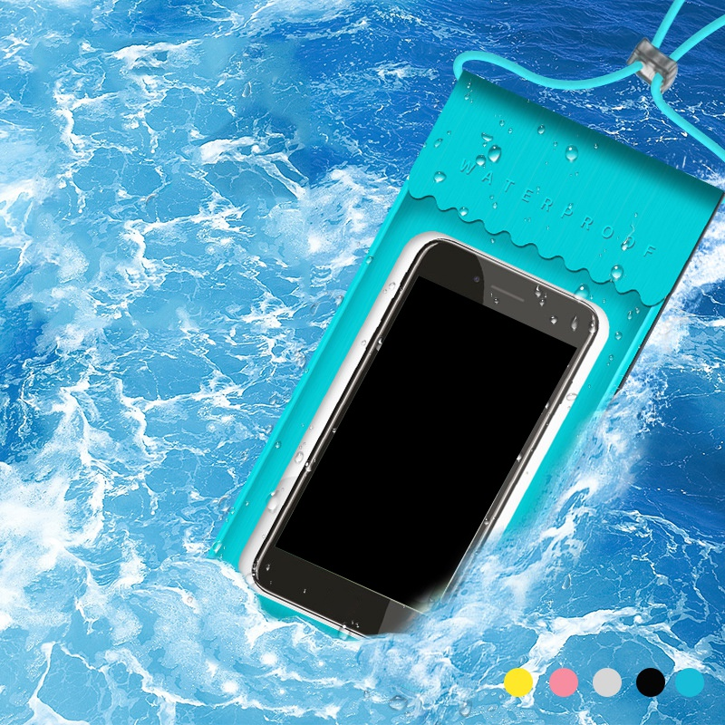 TPU Waterproof Mobile Phone Bag Touch Screen Swimming Bag Phone Case Cellphone Pouch Holder For Diving Surfing Water Sports