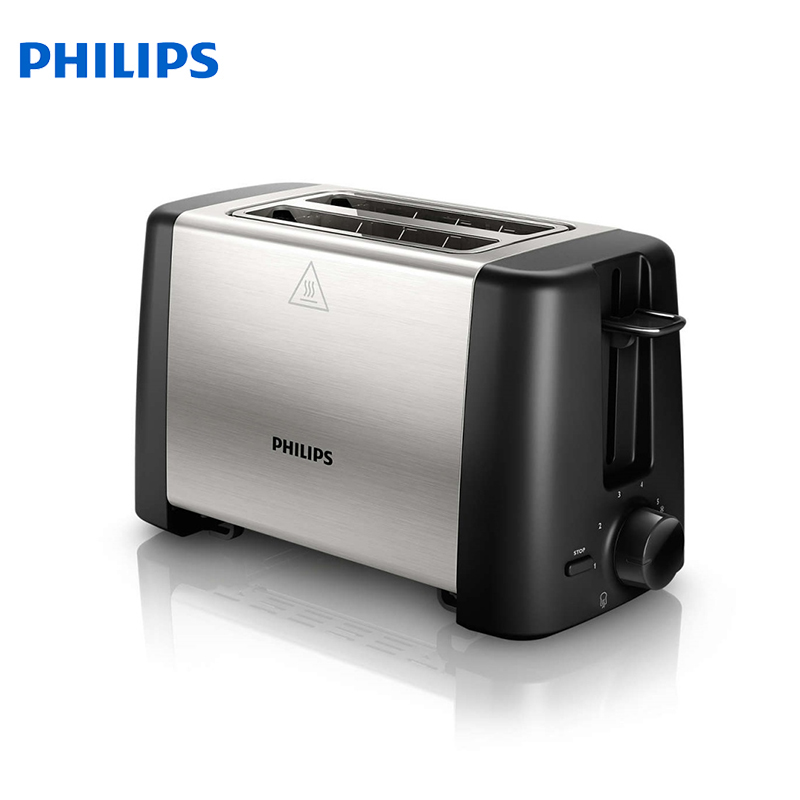 Toaster Philips HD4825/90 bread Household Baking 2 Slices Slots for Breakfast toast machine automatic zipper cake bread toast slicer baking kitchen accessories