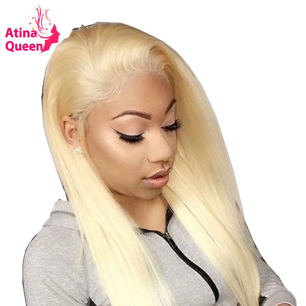 Straight Blonde 613 Lace Wig Brazilia Remy Human Pre Plucked Lace Front Human Hair Wigs with