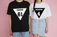 2017 Summer New Fashion SBS Exo T Shirts Couple Clothes Slim White T Shirt Women Tops