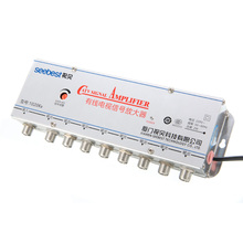 New 1pc 8 Way 1in 8out CATV TV VCR Antenna Signal Amplifier Booster Splitter AC 220V 20dB  345MHz~1000MHz Mayitr