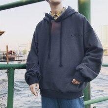 Otoño nuevas sudaderas con capucha hombres Hip Pop Popular Color sólido  pulóver Universidad viento arte pequeño algodón fresco l. 7c3c4051d09