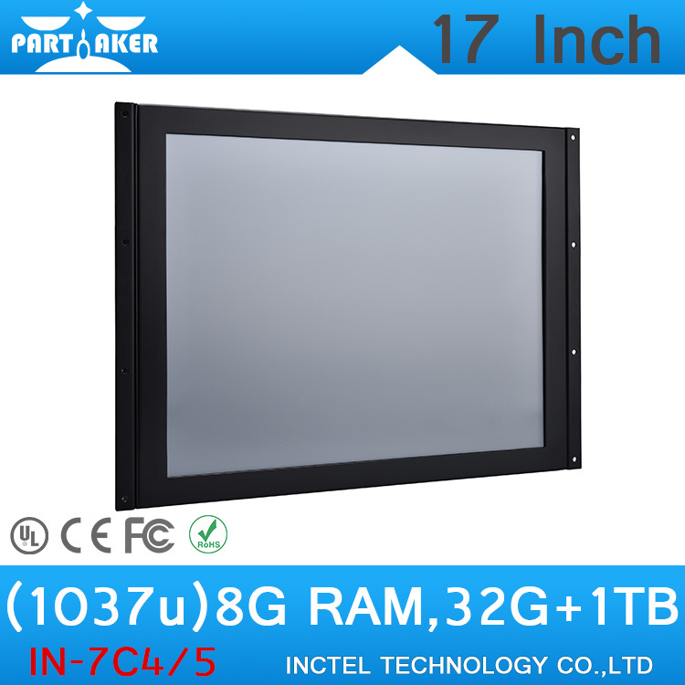 17 Inch Touch Industrial PC all in one computer home theatre computer with Intel Celeron 1037u