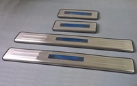 Stainless Steel LED Blue light Welcome pedal Door Sill Cover Scuff Plate Trim For Chevrolet Malibu 2012 2013 2014 2015