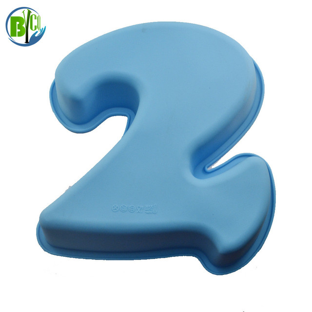 Large Number 2 Birthday Cake Silicone Mold Baking Kitchen Decorating Tools Pan