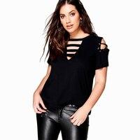 T Shirt Women Plus Size 6XL Fashion White Black Contrast Loose Asymmetric Slim Short Sleeve Casual