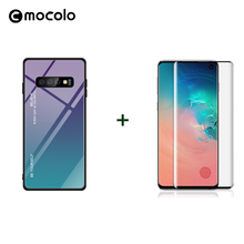 Mocolo 3D Curved Premium Glass for Samsung S10 Film Screen Protector Galaxy Plus S10e Tempered Gradient Case