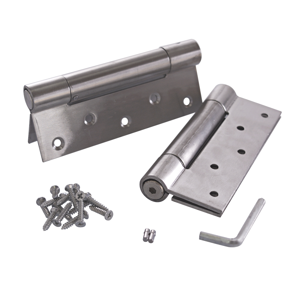 6 Inch Stainless Steel Automatic closing Single Action Silver Spring Door Hinges Adjustable Tension 1 pair free door spring hinge bidirectional open stainless steel automatic door closing device cowboy bar wicket hinges 2pcs