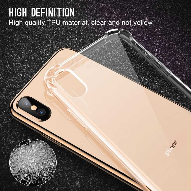 אולטרה דק ברור שקוף TPU סיליקון מקרה עבור iPhone XS MAX XR 6 7 6 s בתוספת להגן גומי טלפון מקרה עבור iPhone 8 7 בתוספת X
