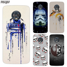 Silicone Hull Shell Back Case For Motorola MOTO G5 G5S G6 G4 E4 E5 Plus X4 Riverdale Cover Star Wars Darth Vader Yoda
