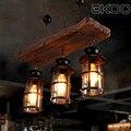 EKOO 3 светильник  винтажный промышленный Ретро деревянный E27 люстра  железный светильник  промышленный деревенский светильник для ресторана ...