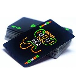 Черный светящийся флуоресцентный покер карты игральные карты светится в темноте бар вечерние KTV ночь светящаяся коллекция специальный пок...
