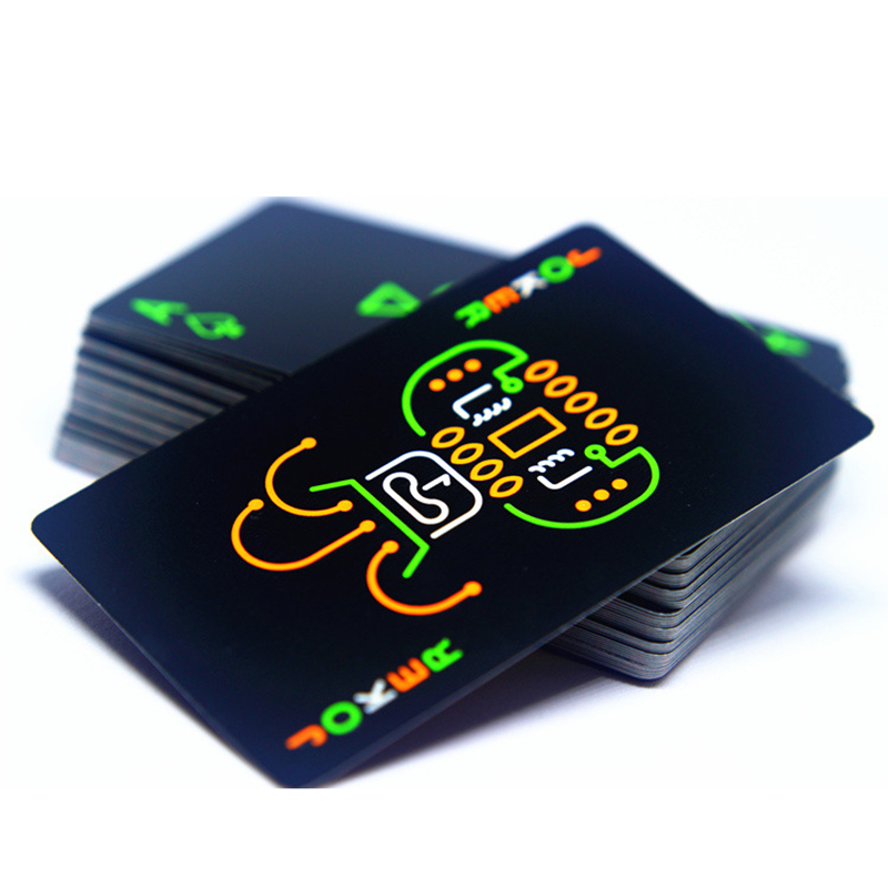 Black Luminous Fluorescent Poker Cards Playing Card Glow In The Dark Bar Party KTV Night Luminous Collection Special Poker nux gp 1 electric guitar plug headphone amp