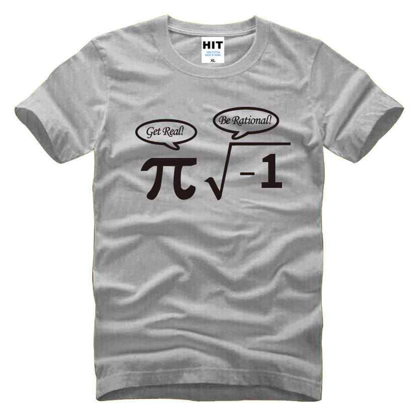 Be Rational Get Real Nerdy Geek Pi Nerd Funny Math Mens Men T Shirt Tshirt 2016 New Short Sleeve Novelty Cotton T-shirt Tee