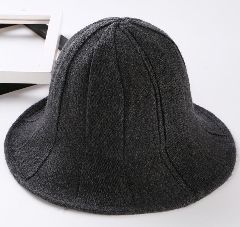 6pcs Women Pocketable Acrylic Knitting Bucket Hats for Spring Autumn Ladies  Crochet Knit Cloche Cap Foldable Winter Female Caps-in Bucket Hats from  Women s ... 7bf549e347c2