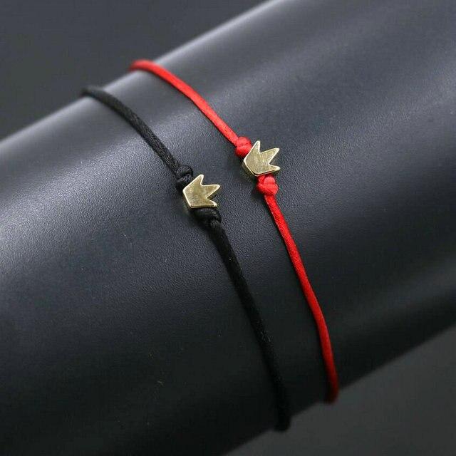 Bracelet pour couple amoureux Rouge et Noir