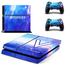Battlefield V PS4 Full Faceplates Skin Console & Controller Decal Stickers for Sony PlayStation 4 Console and Two Controller