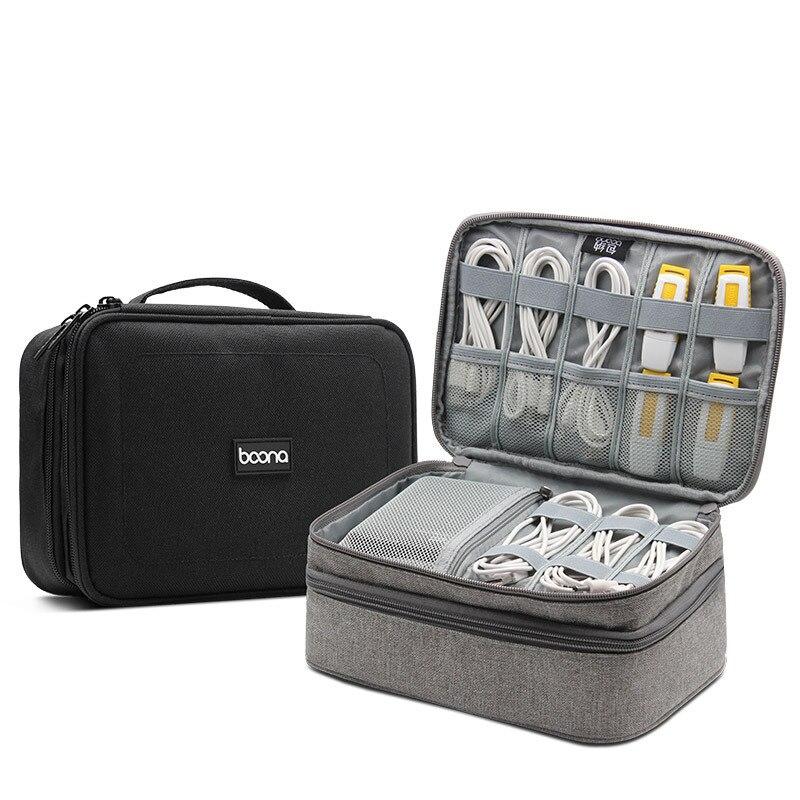 Large Capacity Digital Gadgets Storage Bag for HDD Earphone Power Bank Cable Organizer Bag Electronics Gadget Organizer Case