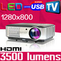 1280x800 3500lm best home theater Digital multimedia video Full HD 1080p LED projector beamer proyector projetor