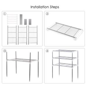 Image 1 - Unidade 2/3 Camada de Multi funcional Mesa Prateleira De Armazenamento De Cozinha Rack de Microondas Prateleiras Do Banheiro Estante de Livros