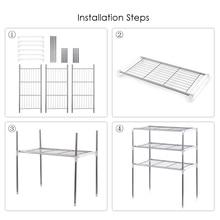 Unit 2/3 Tier Multi functional Kitchen Storage Shelf Table Rack Microwave Oven Shelving Bathroom Book Shelf