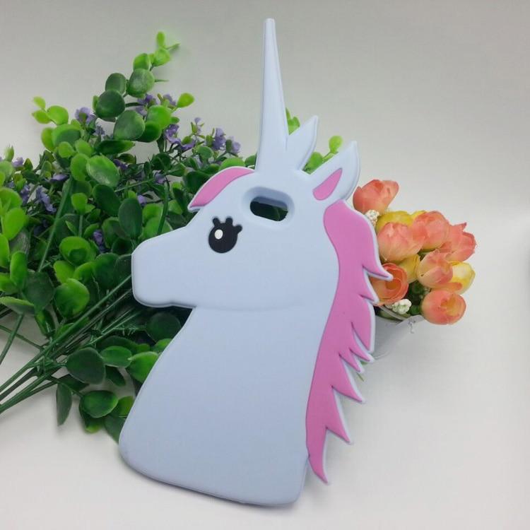 """HTB1Vw24LpXXXXXQXVXXq6xXFXXXW - Fashion 3D Cute Cartoon Unicorn Soft Silicon Rubber Case Cover For iPhone 4 4s 5 5s SE 6 7 6s plus 7 plus 4.7/5.5"""" White Horse"""