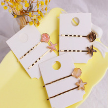 New Vintage Acrylic Shell Starfish Hair Clips Sets For Women Lovely Accessories Korea Fashion Hairpins Barrettes Gifts